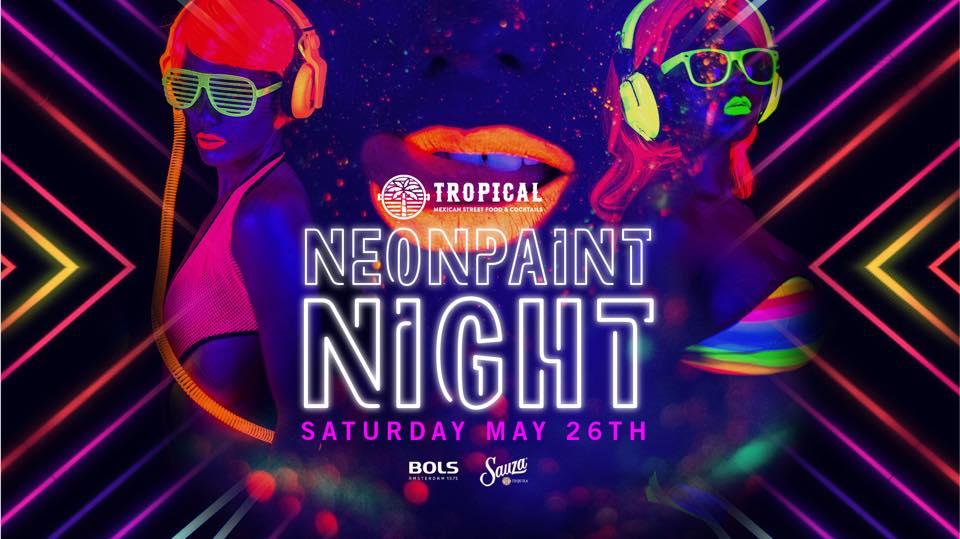 Tropical Neon Paint night